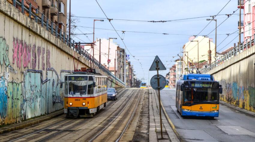 kollektivtrafik i sofia, bulgarien